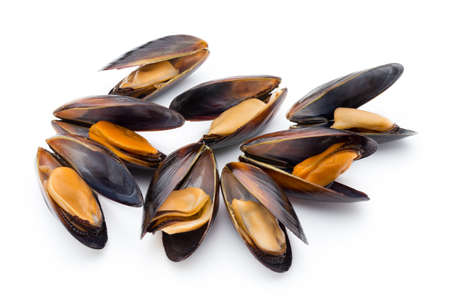 Mussels isolated on white background. Sea food. 免版税图像 - 79468326