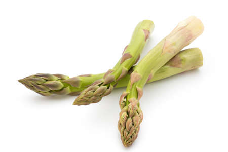 Eco asparagus on white background. Fresh vegetables. Stock Photo