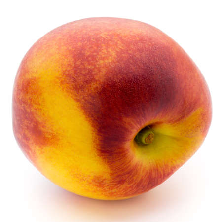 Peach isolated on white background.