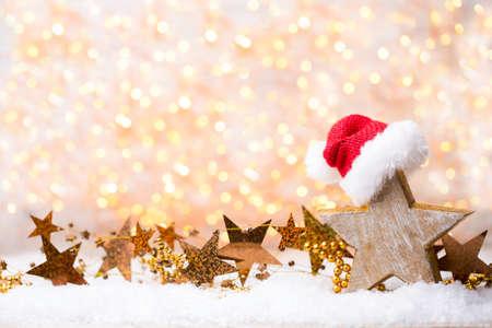 Weihnachten und Neujahr Gold Thema Hintergrund. Standard-Bild - 85074435