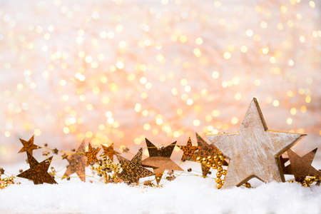 Christmas and new year gold theme background.