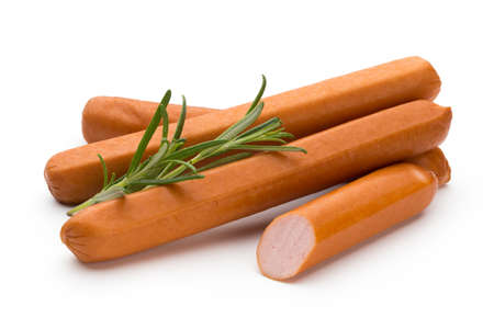 Fresh wurst solated over white background.