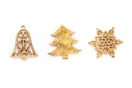 Christmas decors on white background Reklamní fotografie