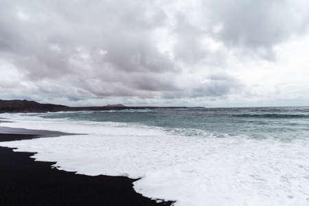 Beautiful beach on the island of Lanzarote.
