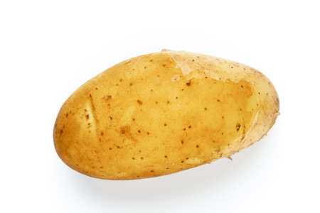 New potato isolated on white close up.