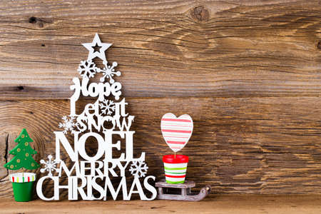 Christmas tree, Noel wish, spruce of the letters.