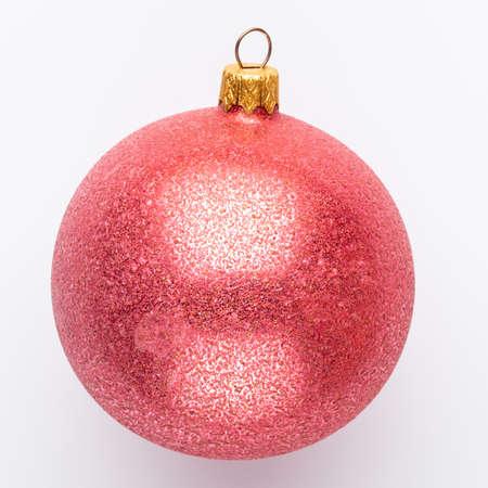 Christmas decor closeup on a white background. Isolated - Image Reklamní fotografie - 128677068