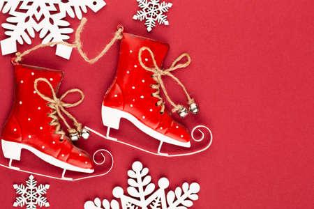 Christmas background. Star golden glitter. Holidays background, flat lay. Reklamní fotografie