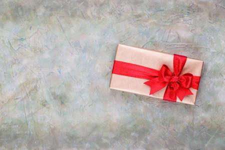 Christmas gift boxes on pastel background. Stock Photo - 130812345