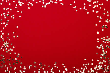 Glittering christmas background. Star dust and golden glitter. Holidays background for web and print. Фото со стока - 130812251