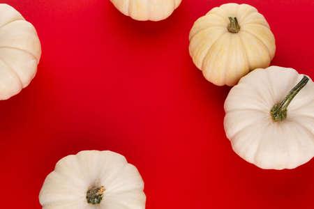 Frame made of pumpkins color paper