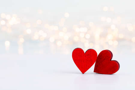 Valentines Day background with red hearts. Greating cards.