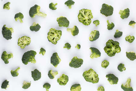 Broccoli pattern isolated on a white Banco de Imagens
