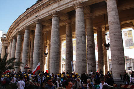 beatification: Rome, Italy - May 1, 2011 - crowd in st peters square during the celebration for the beatification of John Paul II Editorial