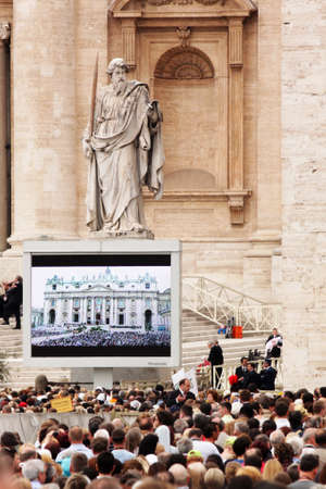 beatification: Rome, Italy - May 2, 2011 - during the celebration for the beatification of John Paul II
