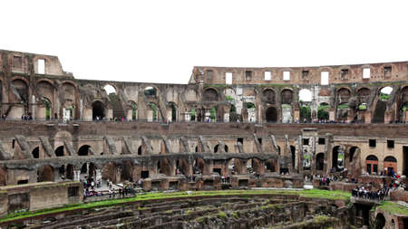 Rome, Italy - May 7, 2010 - interior view of the Colosseum