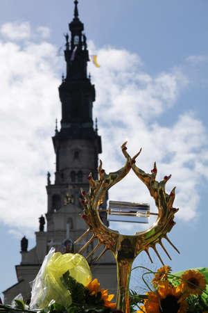 Czestochowa, Poland - August 11, 2011 - Pope John Paul's II relic (blood) showed at the Jasna Gora Sanctuary Stock Photo - 10274181