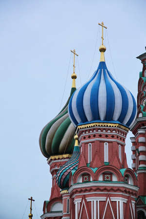 cupolas: onion cupolas -st basil cathedral in moscow