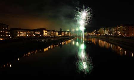 Luminara  night in Pisa  celebration for the Pisa patron s day, San Ranieri