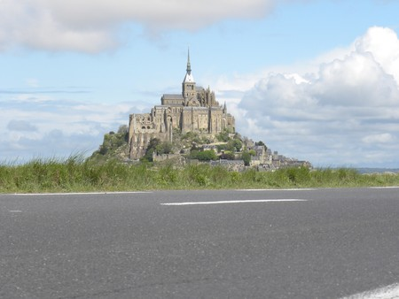 mount saint michael:  France,  Lower Normandy, Department Manche. The rocky tidal island Mont-Saint-Michel with the abbey on the top