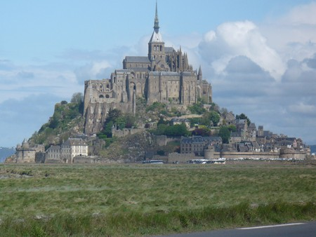 France,  Lower Normandy, Department Manche. The rocky tidal island Mont-Saint-Michel with the abbey on the top photo