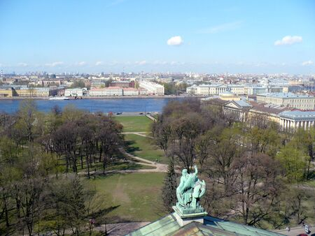 sobor: Russia, Saint Petersburg. View from Saint Isaac`s Cathedral, largest Russian Orthodox cathedral (sobor) in city