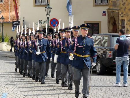 Prague, Czechia - April 28, 2008: Guard of honour of Prague Castle Stock Photo - 7241416