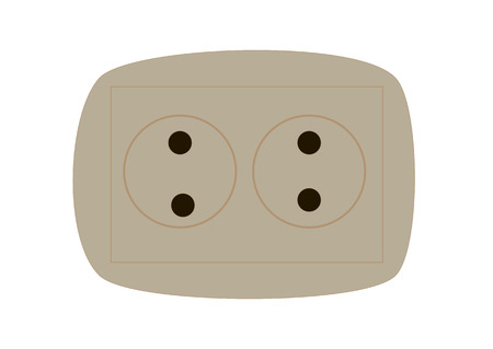 electrical plug: isolated vector  technology  equipment electrical plug voltage