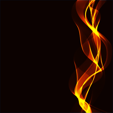 abstract fire: Abstract background with wavy ribbons of a fire and space for your text