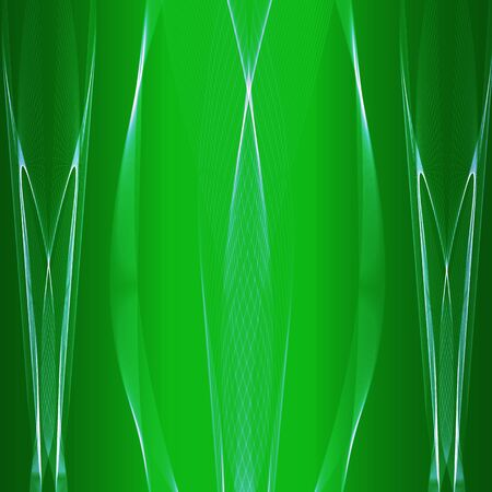 blue stripes: Abstract green background with light blue stripes
