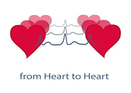 Heart. From heart to heat. Heart transcript. Vector Illustration EPS10 Illustration