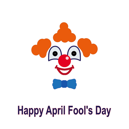 April fools day. Colorful icon of a clown Vector illustration. Illustration