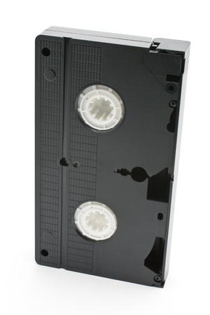 dated: VHS tape isolated on a white background