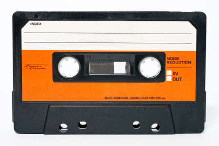 recorder: Cassette tape isolated on a white background Stock Photo
