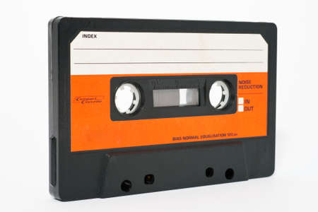 tape recorder: Cassette tape isolated on a white background Stock Photo