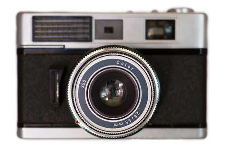 viewfinder vintage: Old camera isolated on a white background