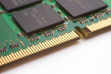 Close-up shot of a computer component  RAM  photo