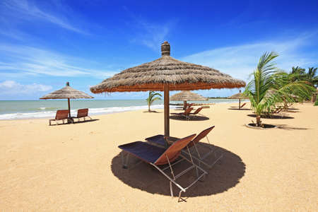 Saly seaside resort in the country of Senegal in Africa photo