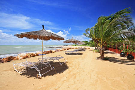 senegal: Saly seaside resort in the country of Senegal in Africa Stock Photo