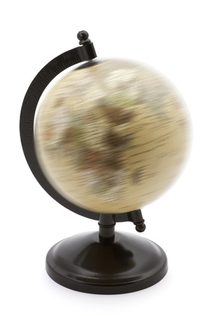 rotating: Rotating globe on a white background