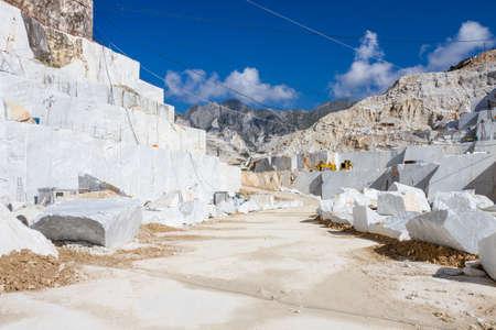 carrara: Carraras marble quarry landscape in Italy Stock Photo