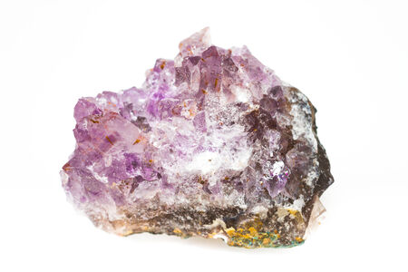 Single piece of Amethyst on a white background photo