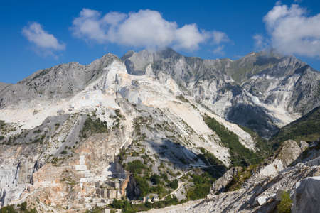 quarries: Large view of Carraras marble quarries landscape in Italy