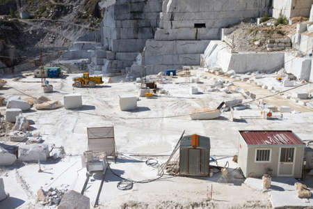carrara: Working site of Carraras marble quarry in Italy