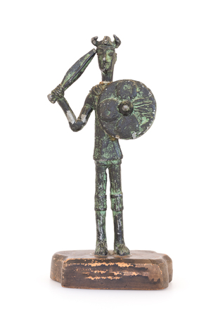 reproduction: Sardinian warrior bronze statue reproduction of the nuragic civilization