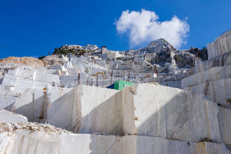 white marble: White marble quarry of Carrara, Tuscany, Italy