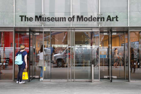 ny: Manhattan, New York, USA -  May 27, 2015: The Museum of Modern Art (MoMA) entrance in the W 53rd St in Manhattan.