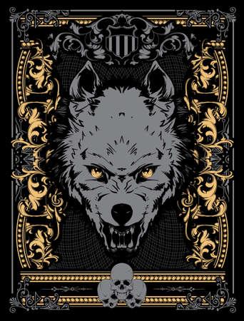 kampfhund: Böse Wolf Vektor