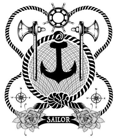 éléments de marin Vecteurs