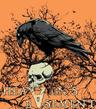 corvo imperiale: Cielo s seminterrato Vettoriali